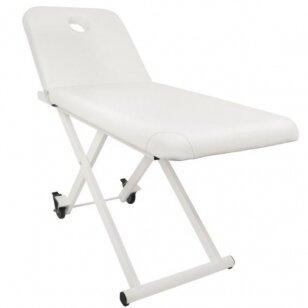 Dviejų dalių elektrinis masažo stalas 329D, baltos sp.