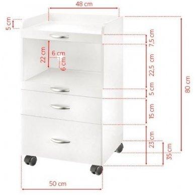 Kosmetologinis vežimėlis-staliukas PREMIUM 1035A 2