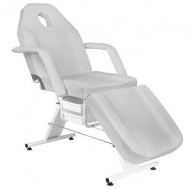 Mechaninis kosmetologijos krėslas BASIC 202 su 2 stalčiais, pilkos sp. 4