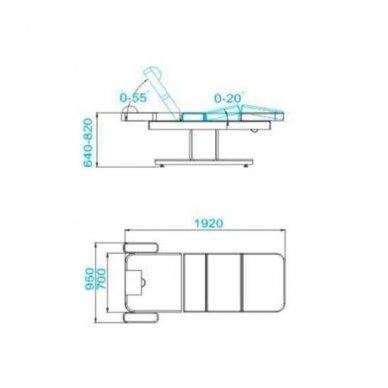SPA masažo lova - gultas AZZURRO 805 1 variklis, su šildymu, smėlio sp. 3