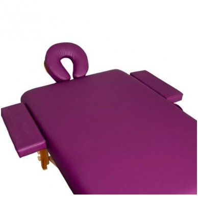 Sulankstomas masažo stalas KOMFORT WOOD AT 006S-3, violetinė sp. 3
