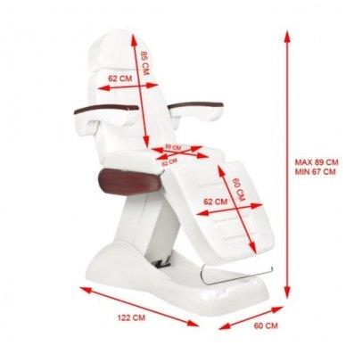 Elektrinis kosmetologinis krėslas LUX, baltos sp. 8