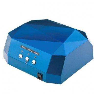 Lempa nagams DIAMOND 2 in 1 UV LED+CCFL 36W, mėlynos sp. 2