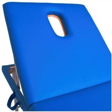 Sulankstomas masažo stalas KOMFORT ALU-003, mėlynos sp. 3