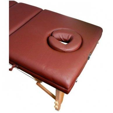 Sulankstomas masažo stalas KOMFORT WOOD AT-009-2, rudos sp. 2