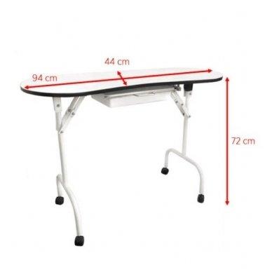 Nešiojamas manikiūro stalas BIURKO 4031, baltos sp. 3