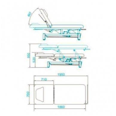 Elektrinis masažo stalas AZZURRO 684, baltos sp. 4
