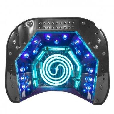 UV lempa nagams LED+CCFL 48W su laikmačiu ir sensoriumi, sidabrinės sp 3