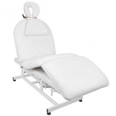 Elektrinis masažo stalas - lova AZZURRO 693A, 1 variklis, baltos sp.