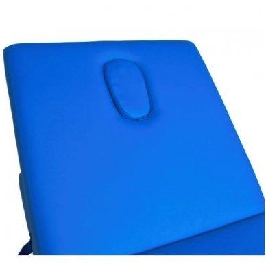 Sulankstomas masažo stalas KOMFORT ALU-003, mėlynos sp. 4