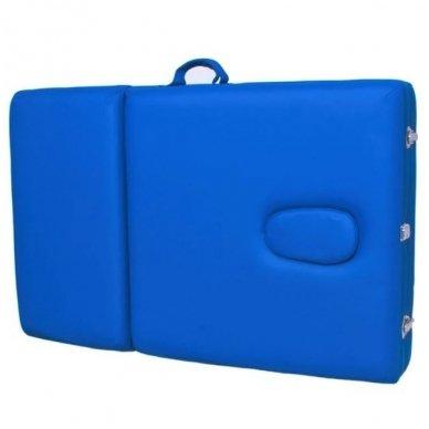 Sulankstomas masažo stalas KOMFORT ALU-003, mėlynos sp. 2