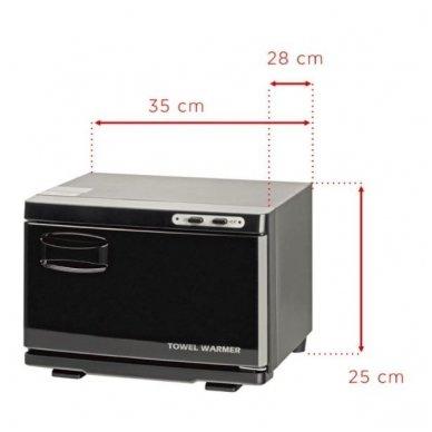Rankšluosčių šildytuvas su sterilizatoriumi UV-C SMALL, juodos sp. 2