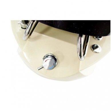 SPA pedikiūro krėslas TS-1204  ECRU/BLACK, su masažo funkcija 4