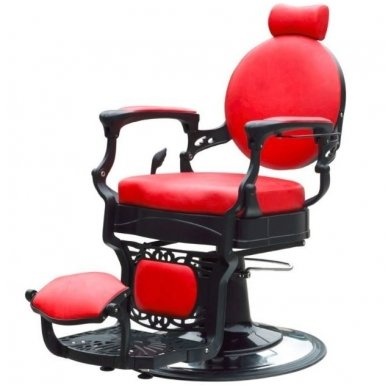 Barber kirpėjo krėslas PRESIDENT, raudonos sp. 2