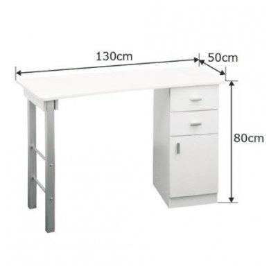 Manikiūro stalas GIOVANNI DM135, baltos sp. 5