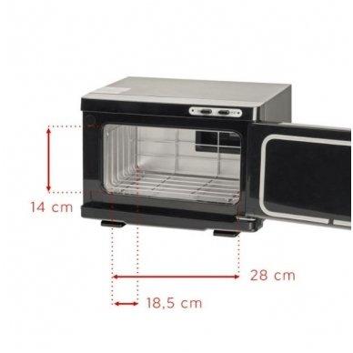 Rankšluosčių šildytuvas su sterilizatoriumi UV-C SMALL, juodos sp. 3