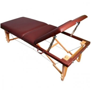Sulankstomas masažo stalas KOMFORT WOOD AT-009-2, rudos sp. 3