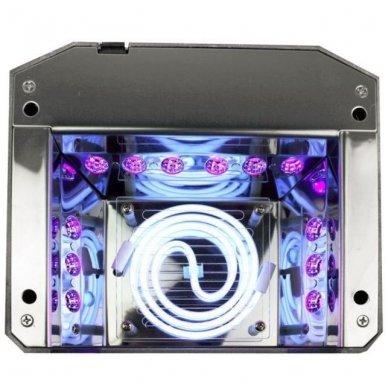 Lempa nagams DIAMOND 2 in 1 UV LED+CCFL 36W, rožinės sp. 3