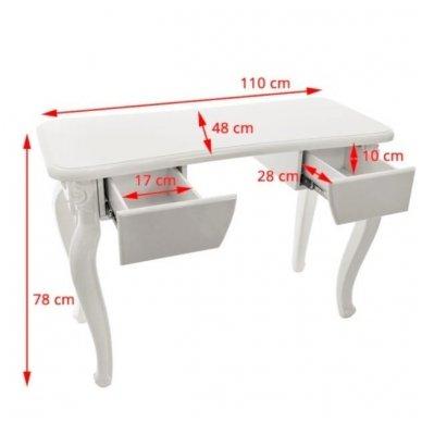 Manikiūro stalas STYL 2049, baltos sp. 4