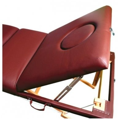 Sulankstomas masažo stalas KOMFORT WOOD AT-009-2, rudos sp. 5