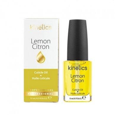 Citrinų aromato nagų odelių aliejus KINETICS Lemon Cuticle Essential Oil, 15 ml