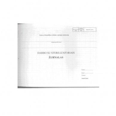 Darbo su sterilizatoriais žurnalas, 12 lapų 2