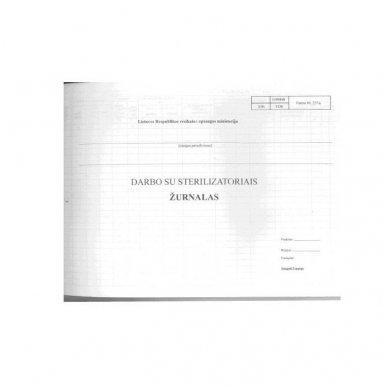 Darbo su sterilizatoriais žurnalas, 48 lapai 2