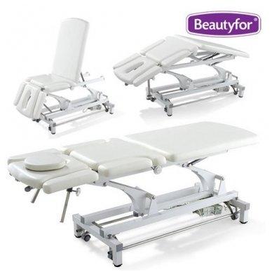 Daugiafunkcinis krėslas-lova įvairioms procedūroms, baltos sp.