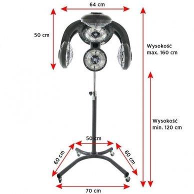 Daugiafunkcinis prietaisas plaukams Gabbiano Infrazon GL-505S 3