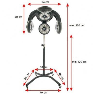 Daugiafunkcinis prietaisas plaukams Gabbiano Infrazon GL505S 4