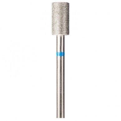 Deimantinis frezos antgalis Cilindro formos, 107-040 mėlynas. 4,00mm, vidutinis gritumas