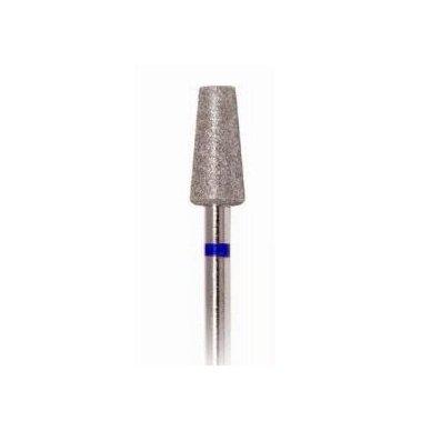 Deimantinis frezos antgalis Konuso formos 168-050, vidutinio grit., mėlynas, 5,5mm
