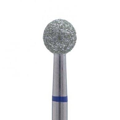 Deimantinis frezos antgalis Rutulio formos, 001-018 mėlynas. 1,8mm, vidutinis gritumas