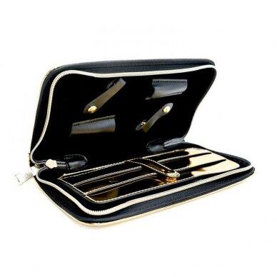 Dėklas žirklėms Osom Professional Gold Scissor, aukso sp, 4 žirklėms 2