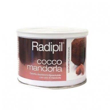 Depiliacinis vaškas skardinėje Radipil su Migdolu aliejumi ir Kokosu, 400 ml