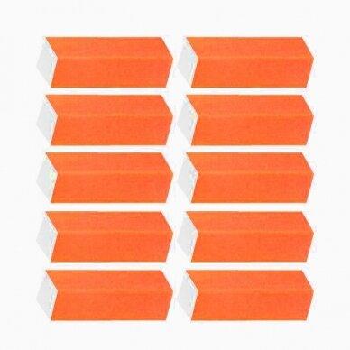 Dildė - blokelis nagams, oranžinės sp. 150/150 gritumas, 10 vnt.