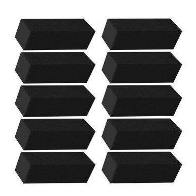 Dildė - blokelis nagų poliravimui, juodos sp. 150/150 gritumas