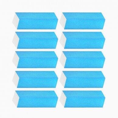 Dildė -  blokelis nagų poliravimui, žydros spalvos, 150/150 gritumas