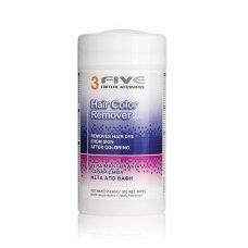 Drėgnos servetėlės plaukų dažų nuvalymui 3 Five Hair Color Remover, 100 vnt.