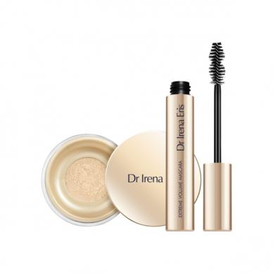 DR IRENA ERIS kosmetikos rinkinys: Make Up Matt & Blur Fixer pudra +  Extreme Volume blakstienų tušas 5