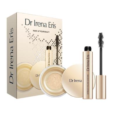 DR IRENA ERIS kosmetikos rinkinys: Make Up Matt & Blur Fixer pudra +  Extreme Volume blakstienų tušas