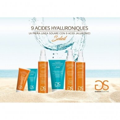 GABOR SELECTIVE drėkinantis - raminantis veido kremas po saulės vonių su 9 hialurono rūgštimis + įdegio greitinimu, 50 ml 2
