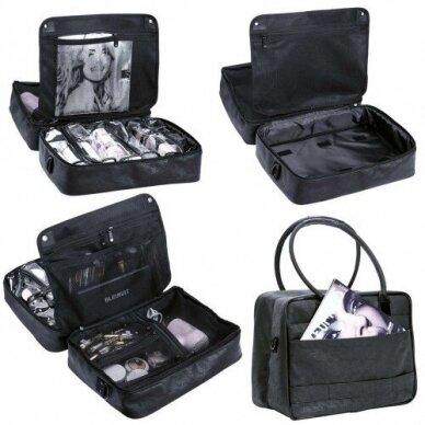 Dviejų skyrių makiažo krepšys KC-MAC01, juodos sp. 4