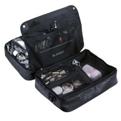 Dviejų skyrių makiažo krepšys KC-MAC01, juodos sp. 5