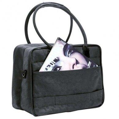 Dviejų skyrių makiažo krepšys KC-MAC01, juodos sp.