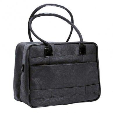 Dviejų skyrių makiažo krepšys KC-MAC01, juodos sp. 2
