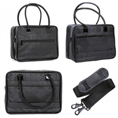 Dviejų skyrių makiažo krepšys KC-MAC01, juodos sp. 3