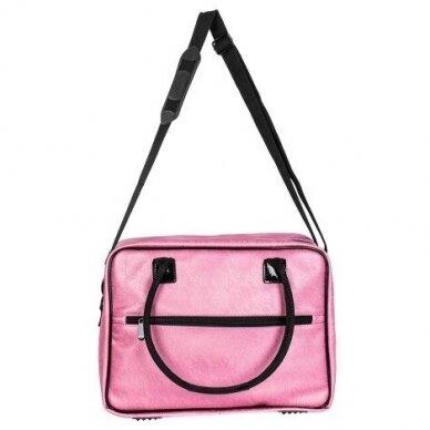 Dviejų skyrių makiažo krepšys KC-MAC01, rožinės sp.