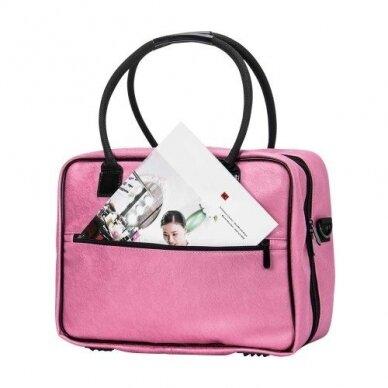 Dviejų skyrių makiažo krepšys KC-MAC01, rožinės sp. 2