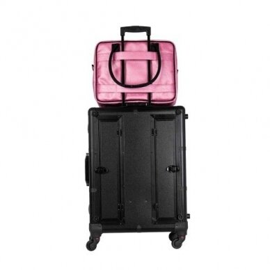 Dviejų skyrių makiažo krepšys KC-MAC01, rožinės sp. 8